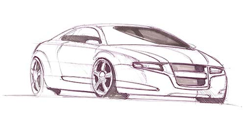 How to Draw a concept car