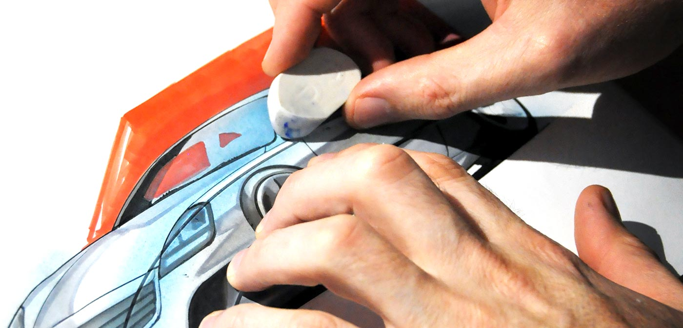 Showing how to draw a car