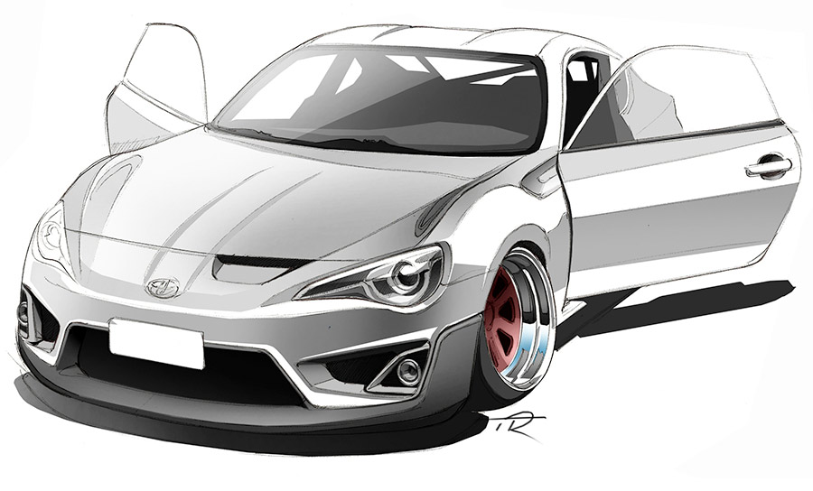 Toyota Drawing