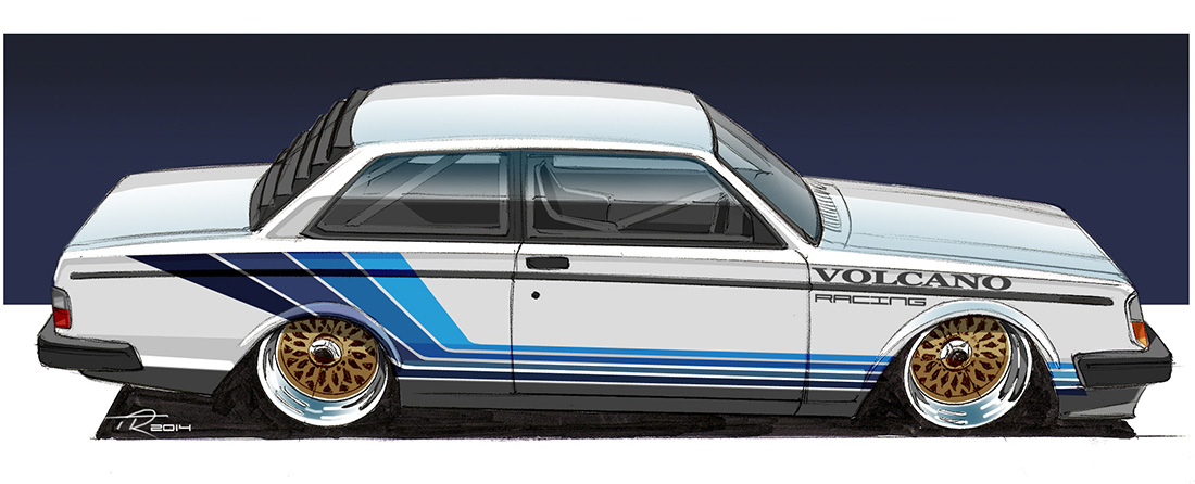 Volvo 240 drawing